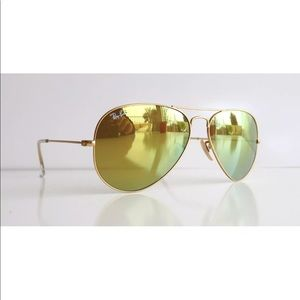 New Genuine Ray Ban 3025 112/93 Gold Yellow